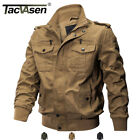 TACVASEN Mens Military Cargo Jacket Cotton Coats MA 1 Airborne Bomber Jackets