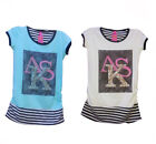 Fashion T-shirt decorated with studs, colour mint green or white, size 6-10