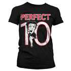 Official Licensed Betty Boop Perfect 10 Women's Fitted T-Shirt S-XXL (Black) £15.99 GBP on eBay