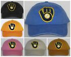 Milwaukee Brewers Ladies Garment Washed Cap ❇CLASSIC MLB PATCH/LOGO ❇NEW ❇Hot
