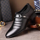 Men Fashion Oxfords PU Leather Business Suit Formal Wedding Party Dress Shoes