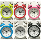 Round Number Desk Bed Clocks Kids Bedroom New Portable Mini Travel Alarm Clock