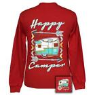 New GIRLIE GIRL HAPPY CAMPER  LONG SLEEVE SHIRT