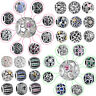 925 European Sterling Openwork CZ Silver Charm Bead for Charms Bracelet Chain