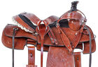 Used Ranch Saddle Western Team Roping Roper Trail Work Leather Horse Tack 15 16