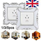 Luxury Switch Covers Square Shaped Wall Light Switch Socket Stickers Home Decor