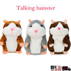US Talking Hamster Electronic Plush Toy Mouse Pet Sound Gift Children Plush Cute