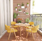 Muster Modern Style Kitchen Dining Table set 1pcs Table with 4 Sets Chairs Home