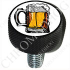 Black Billet Aluminum Sm or Lg Custom Seat Bolt 96-18 Harley - Pint Beer Mug