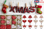 Wholesale Christmas Hanging Accessories Xams Tree Stars Heart Wooden Decor US