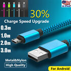 Braided Micro USB Cable High Speed Charging Data Sync Fast Charger For Android