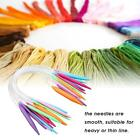 12 x Tube Circular Sweater Needles Knitting Tools Accessories, 3.5mm-12mm Supply