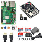 NEW Raspberry Pi 3 Model B Starter Kit 5V Power 6-Layer Acrylic Case SD Card