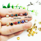 Внешний вид - Short-pole Crystal Clear Synthetic Rhinestone Rivets studs Leather Craft Decor