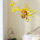 3D Mirror Flower Art Acrylic Mural Decal Removable Wall Sticker Room Decor KY
