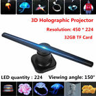 42cm LED 3D Holographic Projector Advertising Display Hologram Player Lamp Fan