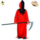Boys Scary Red Devil Costumes Kids Halloween Party Horror Ghost Cosplay Outfits