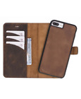Handcrafted Expensive Quality Genuine Leather Magnetic Detachable Case for iPhone