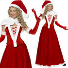 Long Santa Dress Deluxe Christmas Fancy Dress Mrs Claus Costume