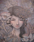 Audrey Kawasaki Art Oil Painting Print On Canvas Home Decor Girl In The Flowers