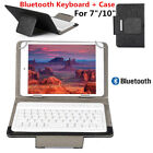 7'' 10'' Wireless Bluetooth Tablet Keyboard Leather Protective Case Cover Stand