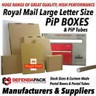 Full Range of Royal Mail Large Letter PiP Postal Posting Cardboard Boxes & Tubes