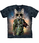THE MOUNTAIN TOM CAT KITTY ARMY MILITARY AIR FORCE FIGHTER T TEE SHIRT