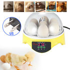 1 X Automatic 7 -Egg Turning Incubator Chicken Hatcher Temperature Control Use