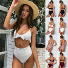 Women's Push-up Padded Bra Bandage Bikini Set Swimsuit Triangle Swimwear Bathing