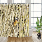 Dry straw and Butterfly Shower Curtain Bathroom Decor Fabric 12hooks 71x71inches