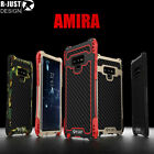 For Samsung Galaxy Note 9 10 Waterproof Shockproof Carbon Fiber Metal Case Cover
