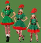 US SHIP Elf Christmas Costume Suit Cosplay Cute Dress Womens Girls 4Pcs