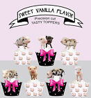 Mini Teacup Micro Pigs Baby piglets Farm Birthday Party Cupcake Toppers cup cake