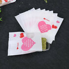 Cake Wrappers Bags Red Heart Printing Bakery Bread Bags Gift Plastic Bags BE
