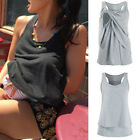 Внешний вид - Ladies Women's Maternity Nursing Wrap Double Layer Sleeveless Blouse T Shirt