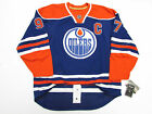 CONNOR McDAVID EDMONTON OILERS AUTHENTIC HOME REEBOK EDGE 7231 JERSEY WITH C