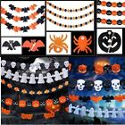 Christmas Party Decoration Garland Pumpkin Bat Spider Ghost Hanging Paper Bar
