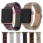 For Apple Watch Band 42mm / 38mm Men Women Resin Strap Rose Gold & Black Buckle image