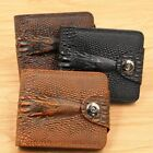 Mens Wallets Leather Crocodile Pattern Coin Purse Money Bag Credit Card Holders