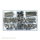 Assorted M6 / 6mm A2 Stainless Steel Socket Button Allen Key Bolts, Nuts, Washer
