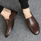 Fashion Mens Leather Slip On Loafers Formal Business Wedding Comfort Dress Shoes