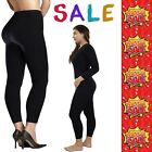 Elegant Ladies New Stretch Thick Winter Warm Thermal Fleece GYM Black Leggings