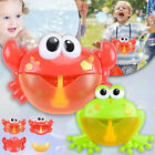 Crab/Frog Bubble Machine Musical Bubble Maker Bath Baby Kids Toy Bath Shower Fun