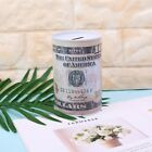 Creative Euro Dollar Metal Cylinder Piggy Bank Saving Money Box Home Decoration