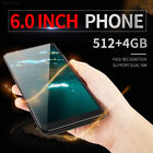 "4d05 6"" Large Screen Android Mobile Phone 4gb Quad Core 3g 2sim Smartphone Face"