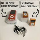Portable MP3 Music MP4 Player with FM Radio Digital LCD Screen Support up 64 GB