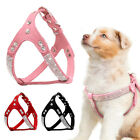 Step-in Soft Suede Leather Dog Harness Bling Rhinestone for Small Medium Dogs