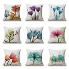 45x45 Flower Cotton Linen Pillowcase Flower Cushion Cover Throw Home Sofa Decor