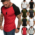 Men Baseball Short Sleeve T-shirt Camo Sports Team Jersey Raglan Tee Muscle Tops image