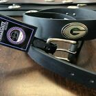 DANBURY OIL TANNED LEATHER GEORGIA BULLDOGS BELT